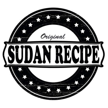 sudan: Stamp with text Sudan recipe inside,vector illustration