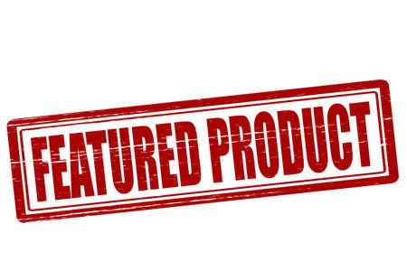 Selo com texto destacados produto dentro, ilustra