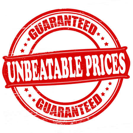 unbeatable: Stamp with text unbeatable prices inside, vector illustration Illustration