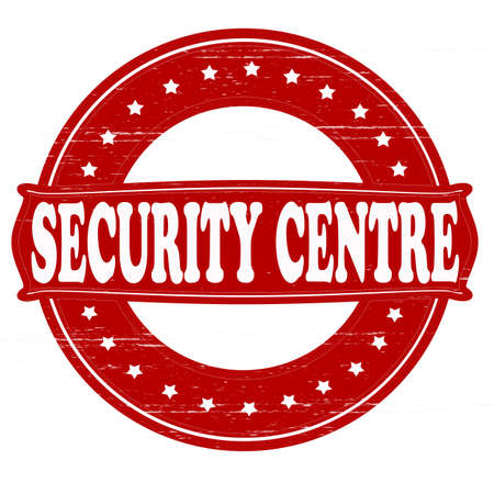 centre: Stamp with text security centre inside, vector illustration Illustration
