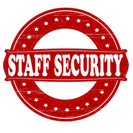 security staff: Stamp with text staff security inside, vector illustration Illustration