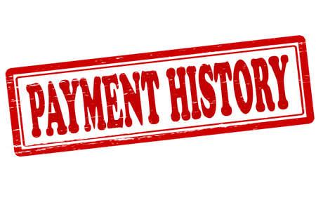 fib: Sello con el historial de pagos texto dentro, ilustraci�n vectorial