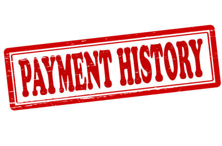 Stamp with text payment history inside, vector illustration