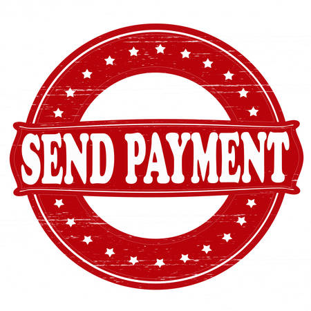 remit: Stamp with text send payment inside, vector illustration