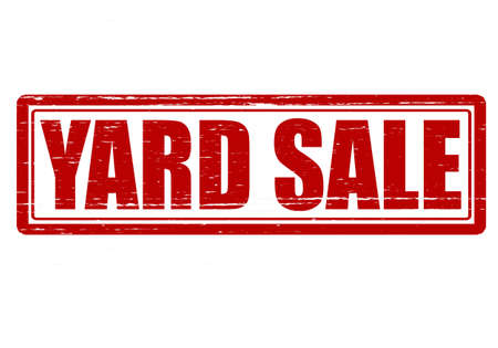 yard sale: Stamp with text yard sale inside, vector illustration