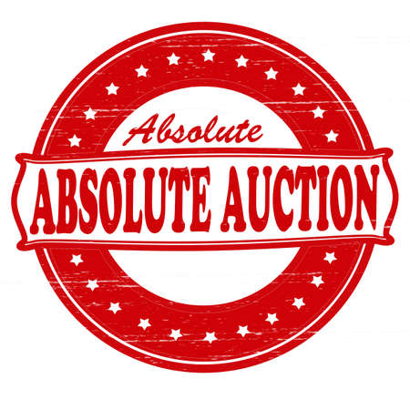absolute: Stamp with text absolute auction inside, vector illustration Illustration