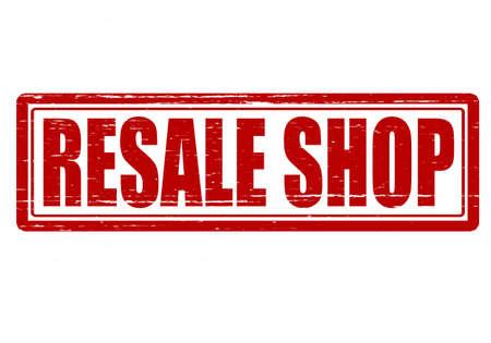 resale: Stamp with text resale shop inside, vector illustration