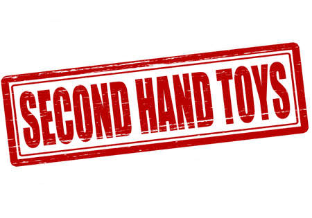 second hand: Stamp with text second hand toys inside, vector illustration Illustration
