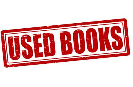 deed: Sello con los libros de texto utilizados en el interior, ilustraci�n vectorial