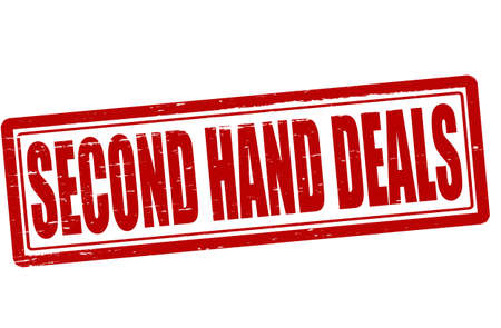 second hand: Stamp with text second hand deals inside, vector illustration Illustration