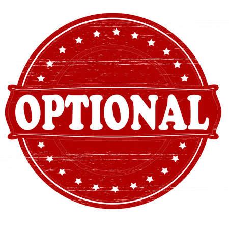 optionnel: Timbre avec option mot � l'int�rieur, illustration vectorielle Illustration