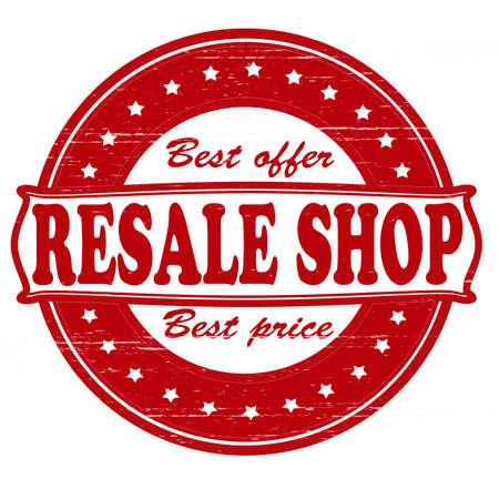 resale: Stamp with text resale shop inside,vector illustration