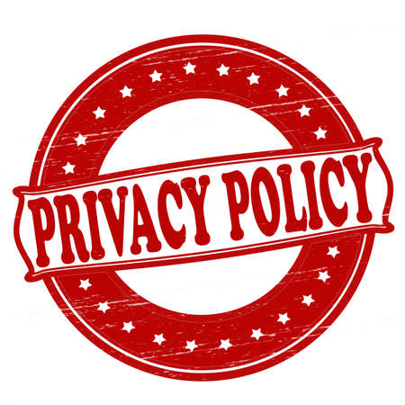 ensuring: Stamp with text privacy policy inside,vector illustration