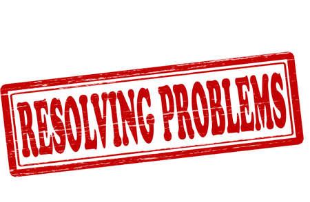 resolving: Timbro con testo di risolvere i problemi dentro, illustrazione vettoriale