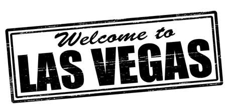 seasonable: Stamp with text welcome to Las Vegas inside, vector illustration Illustration