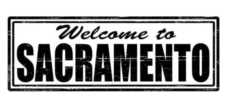 Stamp with text welcome to Sacramento inside, vector illustration Vector