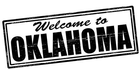 seasonable: Stamp with text welcome to Oklahoma inside, vector illustration