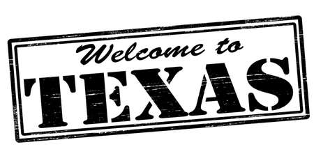 felicitous: Stamp with text welcome to Texas inside, vector illustration