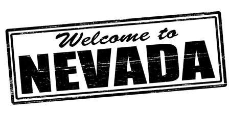 felicitous: Stamp with text welcome to Nevada inside, vector illustration