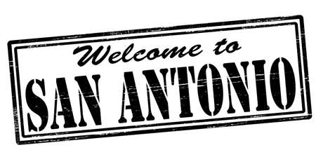 seasonable: Stamp with text welcome to San Antonio inside, vector illustration