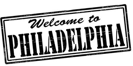 philadelphia: Stamp with text welcome to Philadelphia inside, vector illustration