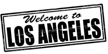 los angeles: Stempel mit Text willkommen in Los Angeles im Inneren, Vektor-Illustration Illustration