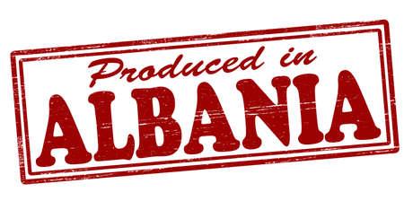 albanie: Timbre avec le texte produit en Albanie � l'int�rieur, illustration vectorielle