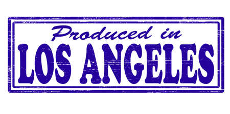 angeles: Stamp with text produced in Los Angeles inside, vector illustration Illustration