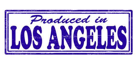 los angeles: Stempel mit Text in Los Angeles im Inneren, Vektor-Illustration hergestellt