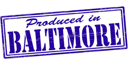 baltimore: Stamp with text produced in Baltimore inside, vector illustration
