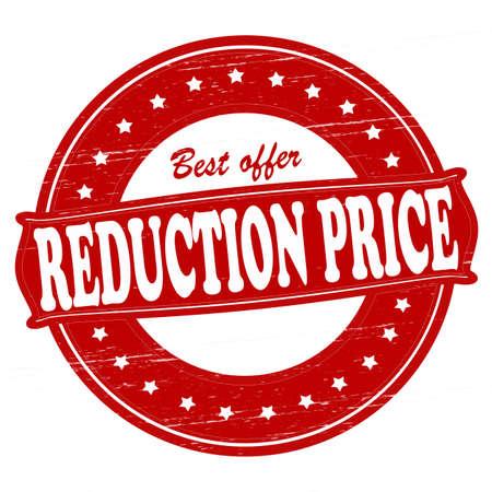 削減: 内部では、ベクター グラフィック テキスト還元価格でスタンプします。  イラスト・ベクター素材