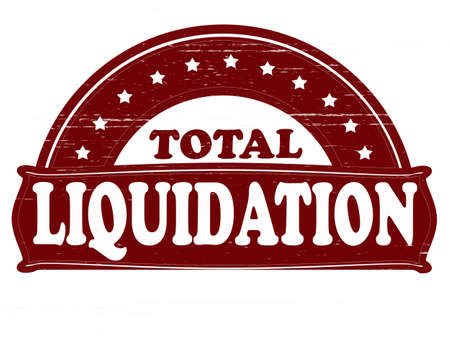 total: Stamp with text total liquidation inside, vector illustration