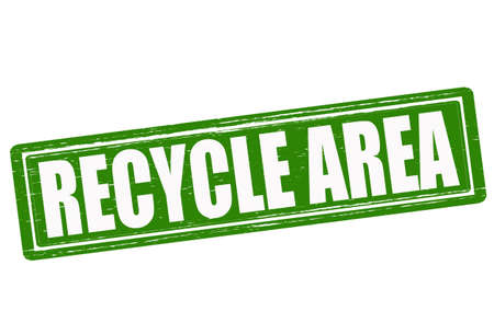recycle area: Stamp with text recycle area inside, vector illustration