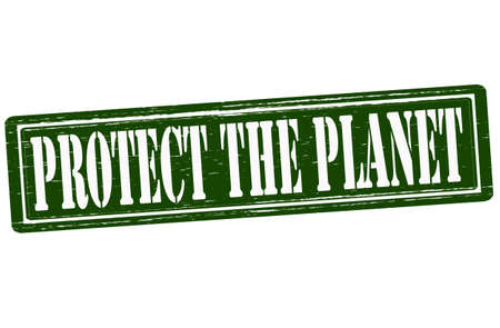 advocate: Stamp with text protect the planet inside,vector illustration Illustration
