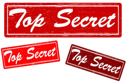 stealthy: Stamp with text top secret inside,vector illustration