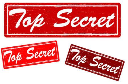 concealed: Stamp with text top secret inside,vector illustration