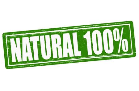 innate: Timbro con la parola all'interno naturale, illustrazione vettoriale Vettoriali