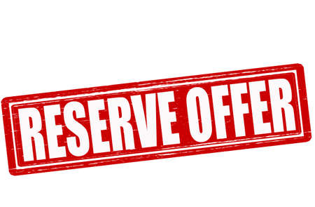 Stamp with text reserve offer inside, vector illustration