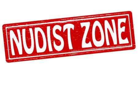 nudist: Stamp with text nudist zone inside, vector illustration Illustration