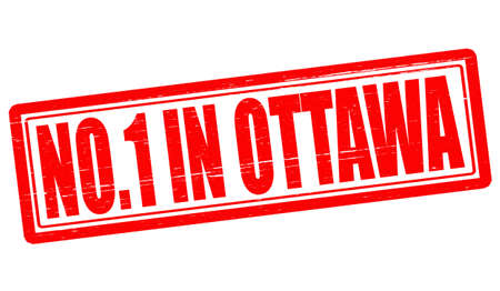 Stamp with text no one in Ottawa inside Vector