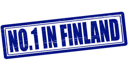 Stamp with text no one in Finland inside Vector