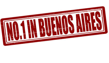 buenos aires: Stempel mit Text niemanden in Buenos Aires im Inneren