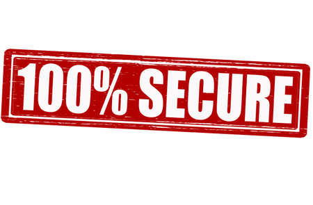 assure: Stamp with word secure inside Illustration