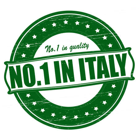 Stamp with text no one in Italy inside, illustration  Vector