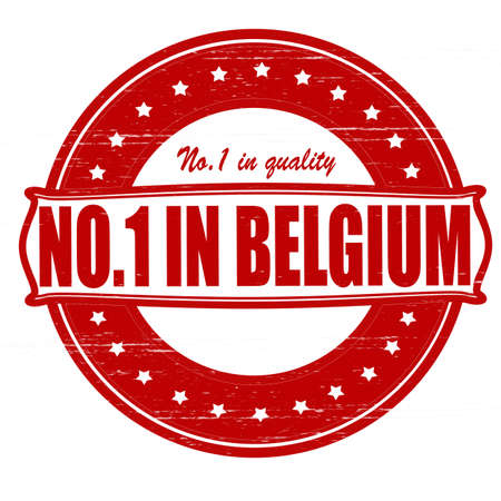 Stamp with text no one in Belgium inside, illustration