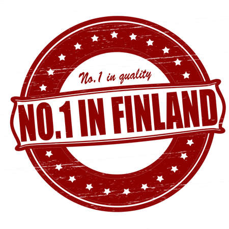 Stamp with text no one in Finland inside, illustration  Vector