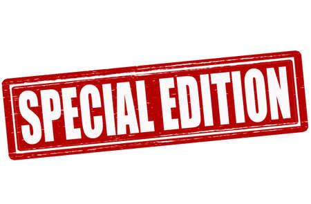 edizione straordinaria: Timbro con edizione speciale testo all'interno, illustrazione