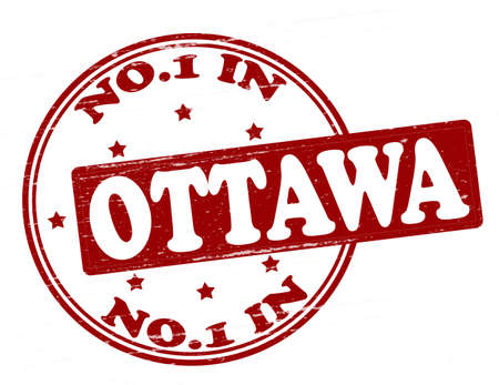 Stamp with text no one in Ottawa inside, illustration  Vector