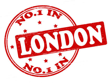 Stamp with text no one in London inside, illustration  Vector