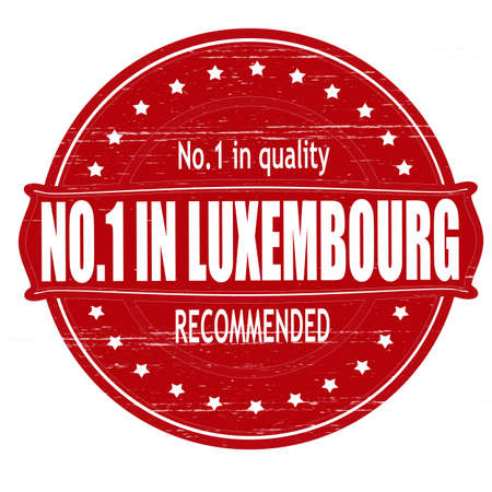 Stamp with text no one in Luxembourg inside, illustration  Vector